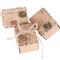 100pz Scatoline Cubo Scatole Portaconfetti incluso Corda di Canapa Ciondoli Vintage Bombon...