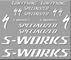 Ecoshirt LO-0SE5-CEP9 Adesivi S-Works Tarmac Bike R272 Stickers Autocollants Adesivo, Bian...