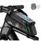 ROCKBROS Borsa da Telaio Impermeabile per Bici MTB Borsa Telaio Anteriore Impermeabile Por...