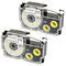 2 x Compatible Ribbon XR-12WE XR-12WE1 Black on White Label Tapes (12mm x 8m) for Casio La...