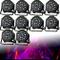 10 pezzi Set di luci da palcoscenico 54 W LED RGB Flat PAR luce DMX 512 illuminazione da p...