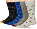 Goodthreads - Calzini standard da uomo, confezione da 5, motivo: anfibia, taglia unica