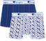 Champion Boxer Coton Mix X2, Multicolore (Blanc Logo Bleu/Bleu 8tr), XXX-Large (Taglia Pro...