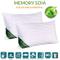 Evergreenweb - Coppia Cuscini Letto in MEMORY FOAM e oli essenziali di SOIA BIO 40x70 alti...