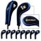Taylormade golf stampa numero copri mazza ferri con cerniera lungo collo 10pcs/set nero/bl...