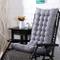 Cuscino per sedia a sdraio con schienale alto, 110 x 40 x 8 cm, cuscino imbottito con schi...