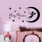 yiyiyaya Home Decoration Accessories Adesivo Fai-da-Te sulla Luna Nome Personalizzato Ades...