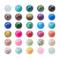 PandaHall Elite 1 Scatola 200 Pezzi 6mm Perline di Vetro Opaco Perline Colorate Perline Ro...
