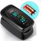 SIMBR Pulsossimetro,Saturimetro da Dito Portatile Professionale con Display LCD per Freque...
