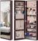 LUXFURNI, armadietto per gioielli a specchio, montaggio a parete/porta da appendere, con s...