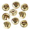 100pcs 18mm Piccole Campanelle Natalizie Campane Oro in Metallo Campanellini Jingle Bells...