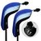 Andux 2pcs coprimazza da Golf per ibridi Intercambiabile No. Etichetta Copri Mazze (Blu)