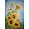 Sunnay Diamond Painting - Quadro a tema girasole, con strass rotondi, ca. 30 x 40 cm, imma...