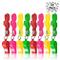 THE TWIDDLERS Fischietti in Plastica da 60 Pezzi con Cordini in Colori Assortiti, Perfetti...