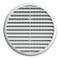 La Ventilazione TUR125B TUR125B-Y Griglia Plastica con Molle, Bianco, 155 mm, ø155 mm