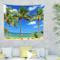 Boho tappezzeria Palm Tree Blue Sky spiaggia Home Decor Mandala Arazzo da parete per soggi...