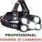 COOLEAD Torcia Frontale Zoomable 4 Modalità 5 LED,Lampada Frontale led Ricaricabile USB 26...