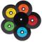 NMC, 25 CD-R, dischi in vinile, in carbonio colorato, parte posteriore completamente nera,...
