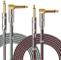 OTraki Cavo Chitarra 3 Metri 2 Pezzi con Standard 1/4 Pollici Cavi per Strumenti 6.35mm TS...