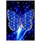 jiushice Telaio Adesivo murale Farfalla Blu Foto Decorazione della casa Stampa Kit Digital...