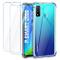 Leathlux Cover Huawei P Smart 2020 Custodia Trasparente +2 × Pellicola Vetro Temperato, Mo...