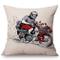 LBAXY Cuscino del Sedile,Home Decoration Sofa Throw Pillow Vintage Classic Motorcycle Raci...