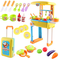 deAO Cucina Piccolo Chef Set in Valigia Convertibile Playset Scatola Portatile con Luci, S...