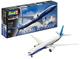 Revell- Boeing 777-300ER Aeromodello in Kit da Costruire, Colore Bianco/Blu, 04945