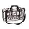 Kemier Beauty Case Trasparente da Viaggio con 6 Tasche Esterne Organizer per Cosmetici Gra...