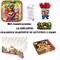 Set Festa, Party, Compleanno Super Mario Decorativo Tavolo 16 Bambine (168 Piatti, 16 Bicc...