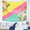 QGUATAN arazzo Muro di stoffa semplice geometrica appendiabiti muro dormitorio arazzo, 210...