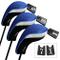 Andux Copri Mazza da Golf per legni Driver Intercambiabile No. Etichetta 3pcs Mt/mg02 Nero...