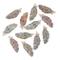 SiAura Material – 50 bottoni in legno per scrapbooking piume, 40 mm x 15 mm, colori assort...