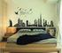 ufengke® Città Nera Silhouette Paesaggio Urbano Grattacielo Adesivi Murali, Camera da Lett...
