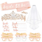Konsait accessori per addobbi natalizi, tiara sposa, Sposa di Essere Bride to be Satin Sas...