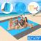 EPESL Impermeabile Coperta da Spiaggia all'aperto, 210X200cm Portatile Telo Mare Antisabbi...
