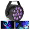 Beamz Party UV Par - 12 x LED UV da 1W, 15 W, Modalità DMX e Standalone, Funzione Master/S...