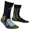 X-Socks Trekking Air Step 2.0, Calze Uomo, Nero/Verde, 35/38