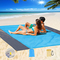 EPESL Impermeabile Coperta da Spiaggia all'aperto, 245 x 275cm Portatile Telo Mare Antisab...