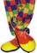 Smiffys Scarpe da Clown, Rosse e Gialle, Deluxe