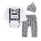 Yilaku Neonato Unisex Pagliaccetto Tuta Body in Cotone con Maniche Lunghe+Pantaloni con St...
