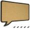 Navaris bacheca in sughero 44x29 cm - lavagna in sughero con pannello a forma di fumetto -...