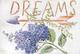 DISRAELI Quadro in Legno Stile Shabby Chic Arredamento Vintage Love/Dreams con Fiori Misur...