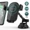Quntis 10W/7.5W Caricatore Wireless Auto Ventosa, Cruscotto/Parabrezza Qi Caricabatterie R...