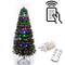 SHATCHI 6052-LED-REMOTE-TREE-4FT - Albero di Natale in fibra ottica con luci a LED, con te...