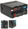 Baxxtar PRO - PLUS Batteria per Sony NP-F970 (10500mAh) - Serie nera - Celle LG interne -...