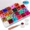 Homejia, 600 perline ottagonali di cera in 24 colori, con 3 candele da tè e 1 cucchiaio pe...