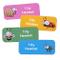 Adesivi personalizzati con nome e cognome del bambino | Adesivi personalizzati impermeabil...