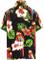 LA LEELA Shirt Super Morbida Spiaggia del Campeggio Aloha Poliestere Nero 441 Piccole