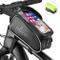FISHOAKY Borsa Telaio Bici, Impermeabile Borsa da Manubrio per Biciclette, Touch Scree Por...